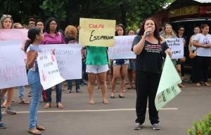 Mulheres protestam contra a cultura do estupro. (Foto: Brenda Herenio)