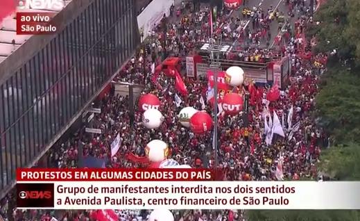 Imagem veiculada pelo helicóptero da GloboNews (Reprodução)
