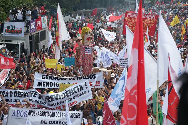 Manifestação na Av. Paulista, em 15 de Março (Foto: Paulo Pinto)
