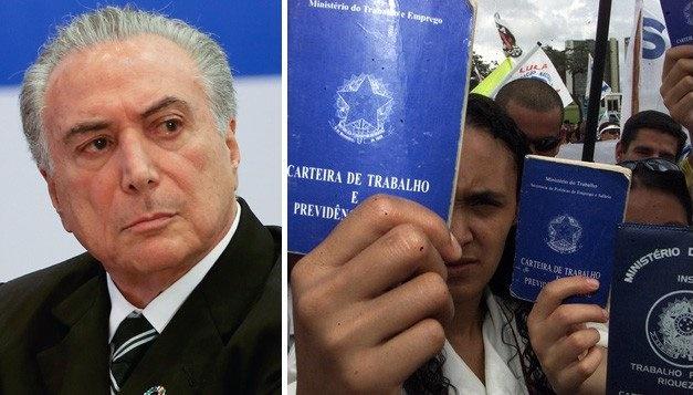Resultado de imagem para TEMER SANCIONA A LEI DA TERCEIRIZAÇÃO E ACABA COM A CLT