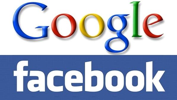 Resultado de imagem para simbolo google e facebook