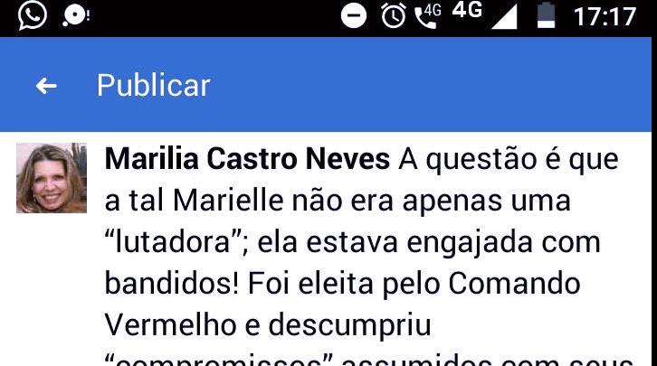 Após fala sobre Marielle Franco, desembargadora será processada