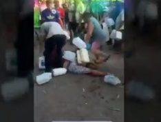 Vídeo: Por um litro de gasolina pessoas se atracam e brigam em postos
