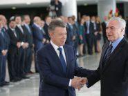 Santos anuncia ingresso da Colômbia na Otan