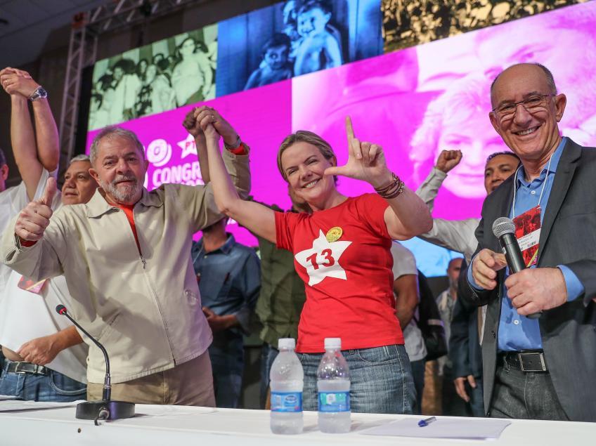 Carta de Lula para Gleisi Hoffmann, reafirmando sua candidatura