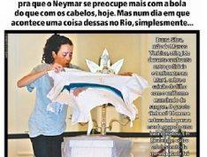 """Jornal Meia Hora faz capa histórica com mãe de menino baleado: """"Não dá"""""""