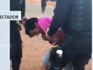 PM de Brasília agride ambulante com joelhada na frente da esposa e do filho