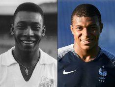 """""""O rei será sempre rei"""", diz Mbappé a Pelé"""