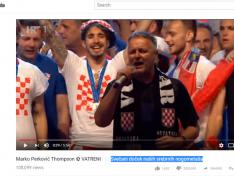 Seleção da Croácia comemora vice nas ruas de Zagreb com cantor nazifascista