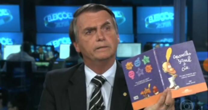 Resultado de imagem para tv globo  bolsonaro + kit gay