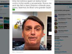 """Em vídeo no hospital, Bolsonaro diz: """"nunca me senti tão bem em minha vida"""""""