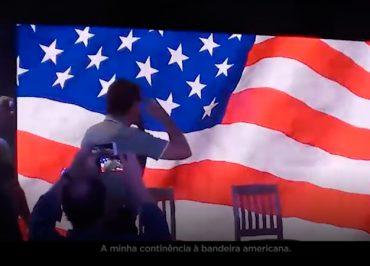Em vídeo, Haddad mostra a tortura na Ditadura e Bolsonaro batendo continência à bandeira dos EUA
