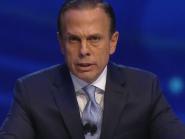 Mesmo sem conseguir apoio, Doria cita Bolsonaro ao longo de todo o debate da Band