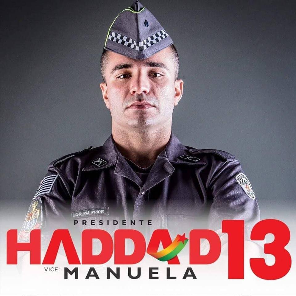 PM faz post a favor de Haddad  Alguém que apoia a tortura não merece meu  respeito c3d5ad4ae55