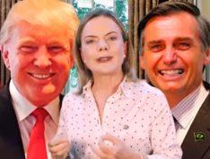 Ação de Trump e Bolsonaro na Venezuela não é preocupação com o povo, mas com as reservas de petróleo, diz Gleisi