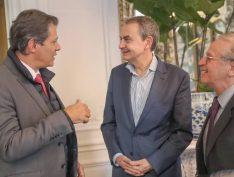 Haddad debate com ex-premiês europeus a formação de frente contra a extrema direita