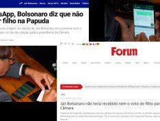 Veja fez matéria semelhante à da Fórum um dia depois e não sofre processo do clã Bolsonaro