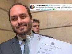 Após atrito com Bebianno, Carlos Bolsonaro posa de bom moço e propõe homenagem a Mourão