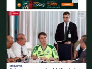 Bolsonaro republica matéria em que aparece com camisa pirata do Palmeiras