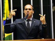 A guerra continua: Eduardo Bolsonaro divulga vídeos de campanha de Joice Hasselmann e outros deputados do PSL