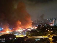 Boulos cobra apuração de incêndio em favela de São Paulo
