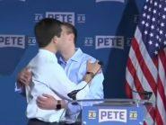 Prefeito beija marido em seu lançamento de campanha para a presidência dos EUA