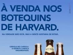 """Cervejaria brinca com mentira de Witzel: """"À venda nos botequins de Harvard"""""""