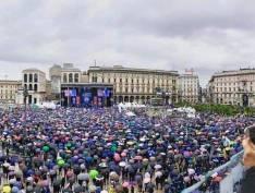 De Milão, Salvini e Le Pen mobilizamfrente de extrema-direita europeia