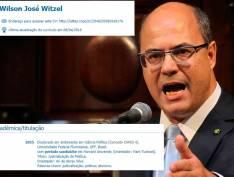 """Witzel coloca no currículo """"doutorado em Harvard"""" e é desmentido; assessoria diz que ele tinha """"intenção"""""""