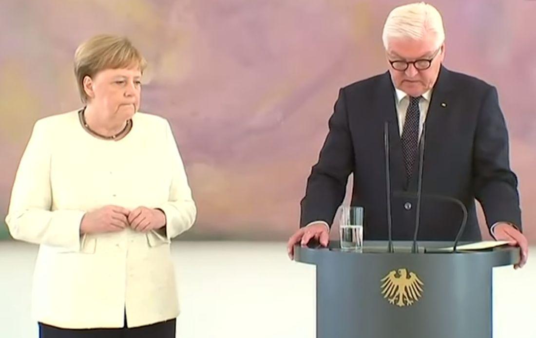 Merkel sofre segunda convulsão em público em pouco mais de uma semana