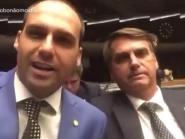 Bolsonaro defende o filho como embaixador e diz que ele poderia ser até chanceler