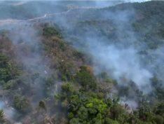 Fumaça cenográfica na Amazônia mobiliza bombeiros e policiais