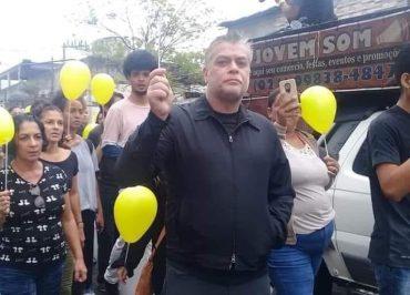 """Fábio Assunção no enterro de Agatha: """"Sei o que pensa esse grupo que enaltece a morte"""""""