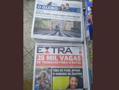 Um dos principais jornais do país, O Globo 'esconde' assassinato de Agatha da capa