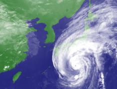 O tufão Hagibi neste sábado no Japão