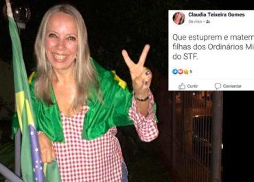 Advogada que pediu estupro e assassinato de filhas de ministros do STF pode perder OAB