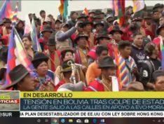 Protesto multitudinário em La Paz exige renúncia de golpista autoproclamada presidenta