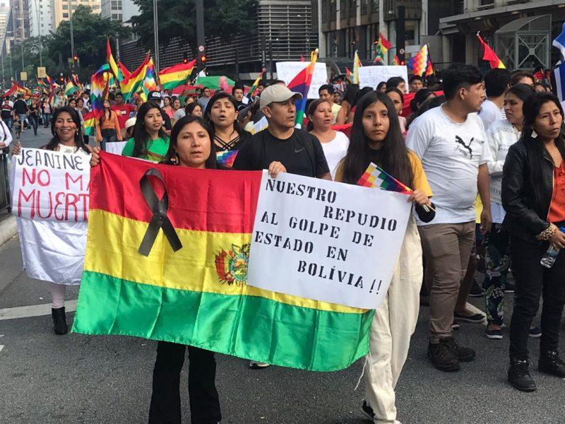 Comunidade boliviana denuncia golpe de Estado na Avenida Paulista - Revista Fórum