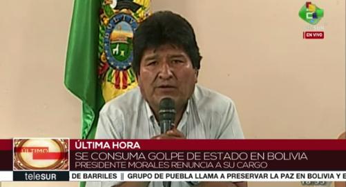 Resultado de imagem para golpe na bolivia