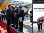 Bolsonaro leva filha e enteada em viagem oficial à Índia