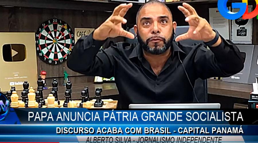 Youtuber Alberto Silva em cena de seu vídeo no Youtube (Reprodução)