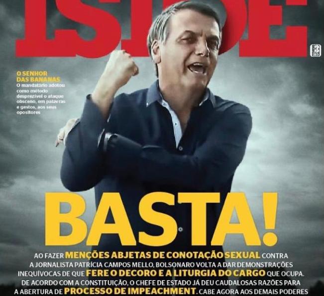 IstoÉ pede impeachment de Bolsonaro