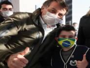 Criança de 7 anos de SC e seus pais tiveram sintomas de Covid um dia após contato com Bolsonaro
