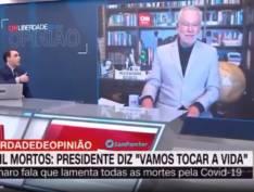 Alexandre Garcia faz defesa da hidroxicloroquina e toma descompostura de Rafael Colombo