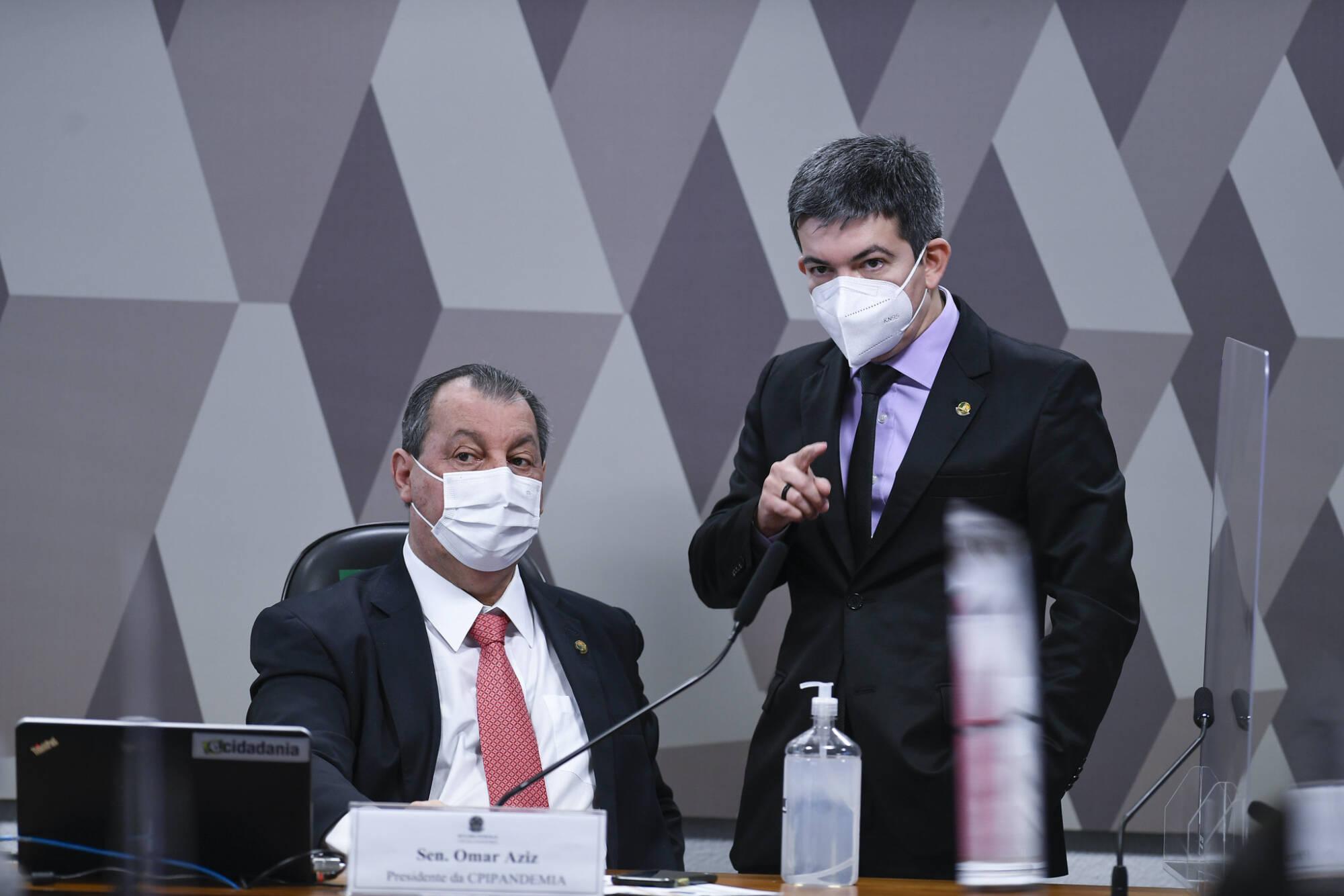 Randolfe Rodrigues Omar Aziz CPI do Genocídio