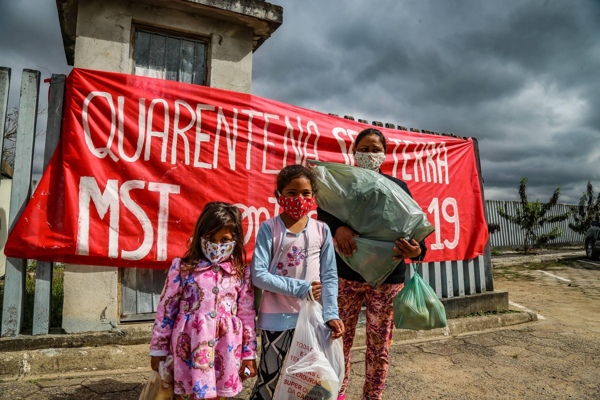 Ação de Solidariedade do MST durante a pandemia | Foto: Wellington Lenon/MST