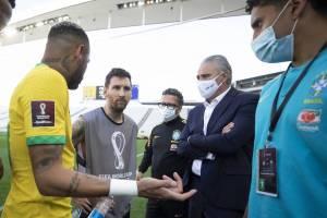 partida entre Brasil e Argentina foi suspensa pela Anvisa