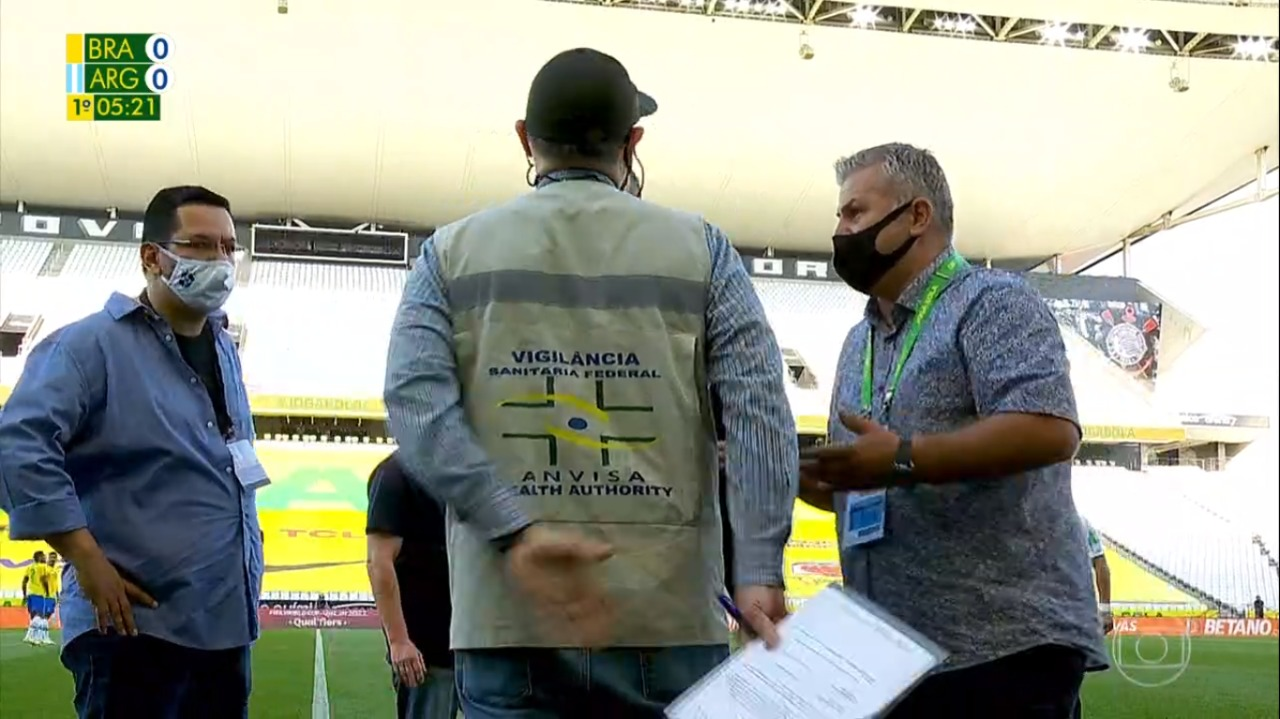 URGENTE: Partida entre Brasil e Argentina é interrompida pela Anvisa |  Revista Fórum
