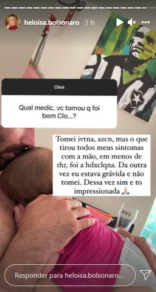 Com Covid, esposa de Eduardo Bolsonaro revela que está se tratando com hidroxicloroquina